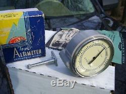 1940' Vintage Originale Rat Tige Hot Auto Original De Gazole De Jauge Altimètre