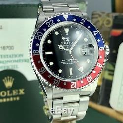 1999 Nos Rolex Gmt Master 16700 Pepsi New Old Stock Coffret Complet Et Papiers