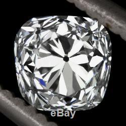 1.04 Coussin Carré Vintage Vintage 1 Carat, Diamant Ancien Mine De F Certifié Vsv2