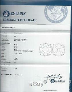 1.06c Coussin Carré Ancien Certifié Diamond Antique Mine Cut Vintage 1ct Naturel