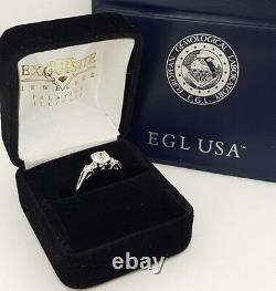 1.08 Ct 18k White Gold Old European Cut Diamond Vintage Bague De Fiançailles Rtl $8k
