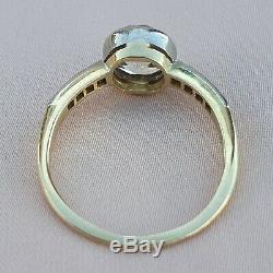 1,26 Old Cut Diamant Bague De Fiançailles Edwardian Bague De Fiançailles Antique Gold