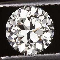 1.31 Certifié H Vvs2 Découpage Européen Transitionnel Vintage Ancien Diamant Ancien