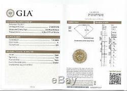1.32c Ancienne Mine Cut Diamond Gia Certifié K Vs2 Coussin Vintage Antique Brillant
