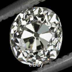 1,33 Carat Certifié K Vs1 Ancienne Mine Coupe Diamant Antique Millésime 1800 Domaine Du Coussin