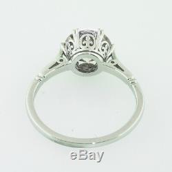 1,55 Ct Antique Vintage Ancien Engagement De Coupe De Diamant Européenne Bague En Platine