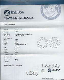 1,5 Carat Certifié K Vs2 Old Cut Européenne Vintage Diamant Antique En Vrac Naturel
