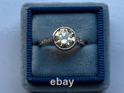 1.60 Ct Vintage Ancienne Anneau De Fiançailles De Diamants Coupés D'europe À Platinum