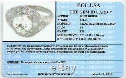 1.6ctw Certified H Vs1 Anneau De Platinum Vintage Ancienne