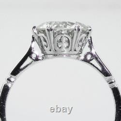 1.75 Ct Vintage Antique Old European Cut Diamond Bague De Fiançailles En Platine