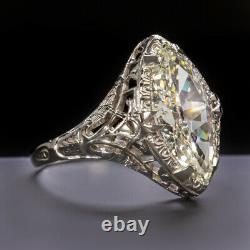 1.75ct Gia Certifié Vieux Marquise Cut Diamond Bague De Fiançailles Vintage Antique Er