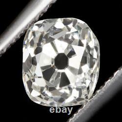 1 Carat Certifié G Si1 Old Mine Cut Diamond Antique Cushion Brilliant Vintage