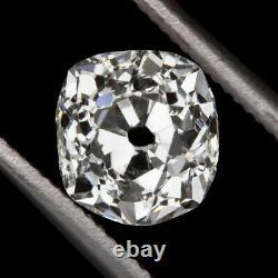 1ct Old Mine Cut Diamond F Couleur Coussin Brilliant Antique Vintage Loose Natural