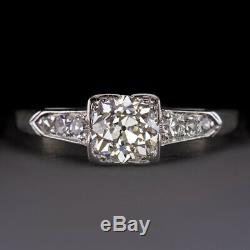 1ct Vs Old Cut Européenne Diamant Platine Bague De Fiançailles Antique Vintage Classique