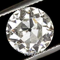 2.14c Vieux Couteau Europeen Diamant 8.6mm Blanc Nettoyage Naturel Vintage Antique 2 Carat