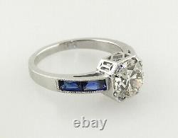 2,30 Ct Antique Vintage Vieux Engagement Diamant Cut Européen Anneau En Platine