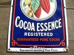 38270 Vieux, Antiquité, Signe Vintage, Émail, Magasin, Boîte, Boîte, Boîte Cacao Cacao