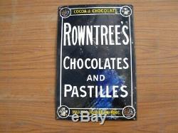 38275 Vieux Antiques Signes D'émail Vintage Shop Boîte Boîte De Boîte De Conserve De Cacao Rowntree Advert