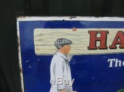 39805 Old Antique Vintage Émail Signer Le Pot De Peinture Distemper Hall Peut Art Déco