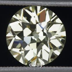 3.25ct Gia Certifié Vs1 Old European Cut Diamond Vintage Antique Loose Natural