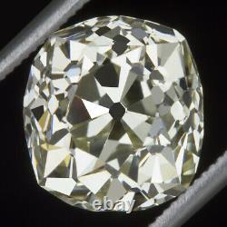 3.80ct Vs2 Old Mine Cut Diamond Antique Elongated Cushion Brilliant Vintage 4ct
