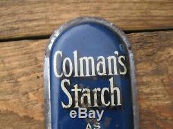 40361 Old Vintage Antique Tin Émail Peinture Signe Moutarde Boîte Colmans-doigt