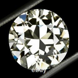 4.70ct Certifié 11mm Vs2 Old Cut Diamond Vintage Antique Trans European 5 Carat
