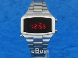 70 1970 Old Style Vintage Led LCD Digital Rare Retro Mens Watch 12 Et 24 H W
