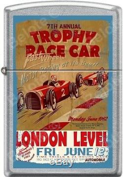 Affiches Vintage Race Club Zippo Old School 1950's 8 Ensemble Briquets Street Chrome