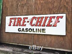 Ancien Chef Des Pompiers Texaco Vintage Style Ancien, Grande Taille