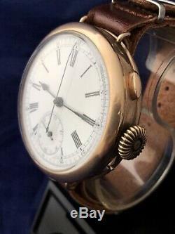 Ancien Chronographe De Quart De Répétition De Quart Art Deco Antique Gents F /