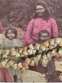 Ancien Collier De Coquillages Ancien Aborigène Australien D'époque Début Du Marché Touristique
