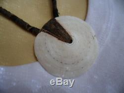 Ancien Collier De Monnaie Vintage Png Toea Shell Bush Twine Old Papua New Guinea