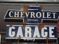 Ancien Style Antique Look Vintage Concessionnaire Chevy Signe Garage Signe Grand 3 Pièce