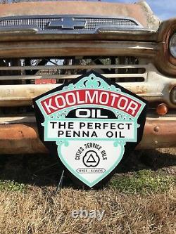 Ancien Vieux Style Kool Panneau D'huile De Moteur