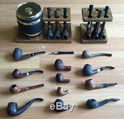 Ancien Vtg Antique Importé Briar Dr Grabow Riviera Stand Tuyau Canette Lot