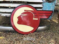 Ancienne Enseigne Vintage Avec Logo Pontiac