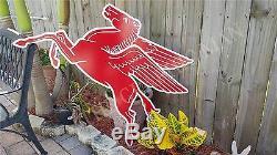 Ancienne Vintage Mobil Pegasus Sign Garage Decor