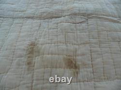 Antiique American Des Années 1920 Vintage Old Feed Sack Patchwork Quilt Flour Sack Retour