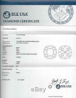 Antique 1ct Ancienne Mine Cut Europeen De Coussin Diamond H Si2 Certified Cru Vrac