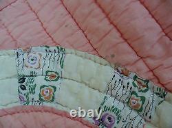 Antique Américain Des Années 1920 Vintage Old Feed Sack Patchwork Quilt Flour Sack Back