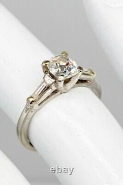 Antique Années 1920 $10,000 Vs2 D 1.40ct Old Mine Cut Diamond Platinum Wedding Ring