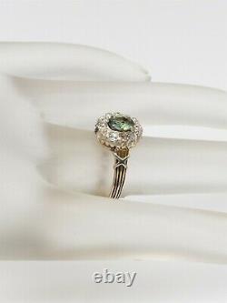 Antique Années 1920 $5k 1.50ct Natural Alexandrite Old Euro Vs Diamond 14k Gold Ring