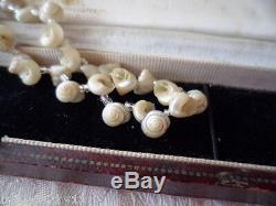 Antique Australian Vintage Iridescent Shell Vieux Collier Tôt Marché Touristique
