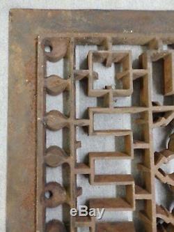 Antique D'air Froid Retour Chaleur Râper Motif Gothique Vent Vieux Vintage 26x37 1947-1916