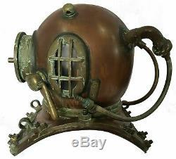 Antique Morse 18 Plongée Old Vintage Boston Mark VI Marine Deep Sea Divers Casque