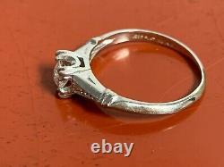 Antique Platinum Diamond Old Miners Taille De L'anneau 2.75