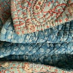 Antique Quilt Indigo Résister 18ème Siècle Français Rare Vintage Textile France Ancienne