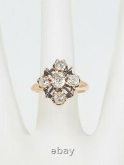 Antique Victorienne Des Années 1870 $5000 2ct Vs H Old Mine Cut Diamond 14k Yellow Gold Ring