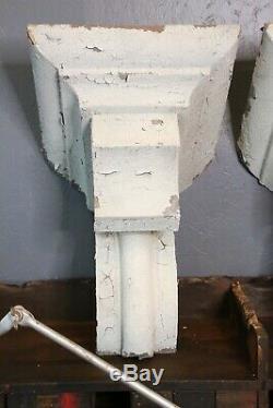 Antique Vintage Architectural Salvage Corbeaux Blanc Cuisine Ferme Décor Vieux